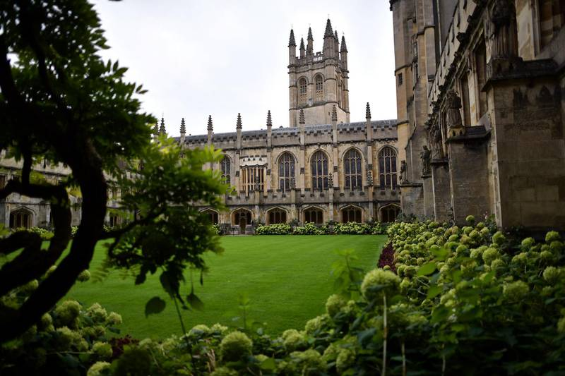 OXFORD, ENGLAND - SEPTEMBER 20: Magdalen College is pictured on September 20, 2016 in Oxford, England. Oxford University has taken number one position in the 2016-2017 world university rankings beating off Harvard and Cambridge for the top spot.  (Photo by Carl Court/Getty Images)