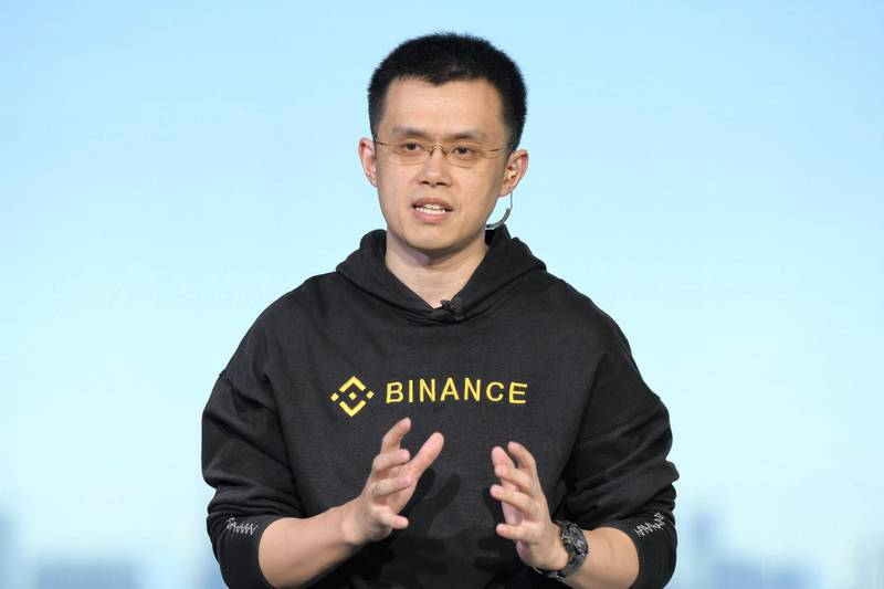 """Zhao Changpeng, chief executive officer of Binance, speaks during a Bloomberg Television interview in Tokyo, Japan, on Thursday, Jan. 11, 2018. The world's biggest cryptocurrency exchange keeps getting bigger. Binance.com is adding """"a couple of million"""" registered users every week, with 240,000 people signing up in just an hour on Wednesday, said Zhao. Photographer: Akio Kon/Bloomberg"""