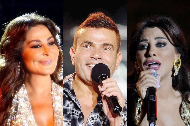 Elissa, Amr Diab and Najwa Karam