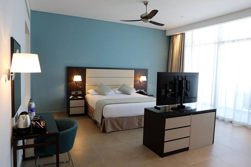 DUBAI, UNITED ARAB EMIRATES, December 10 – View of the Junior suite at the RIU hotel on Deira Island in Dubai. (Pawan Singh / The National) For News/Lifestyle/Online/Instagram. Story by Kelly