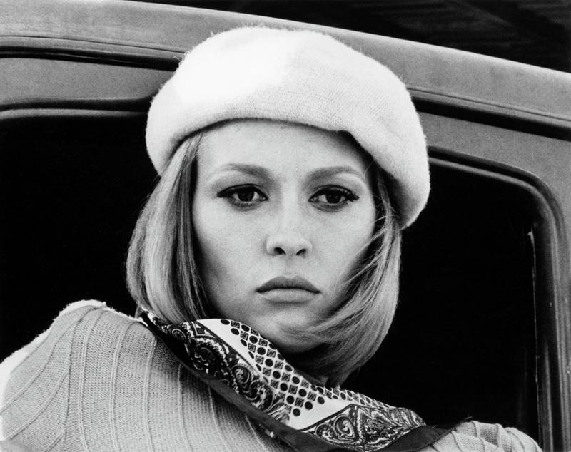 """Faye Dunaway in """"Bonnie and Clyde"""" 1967 Warner Bros. ** B.D.M."""