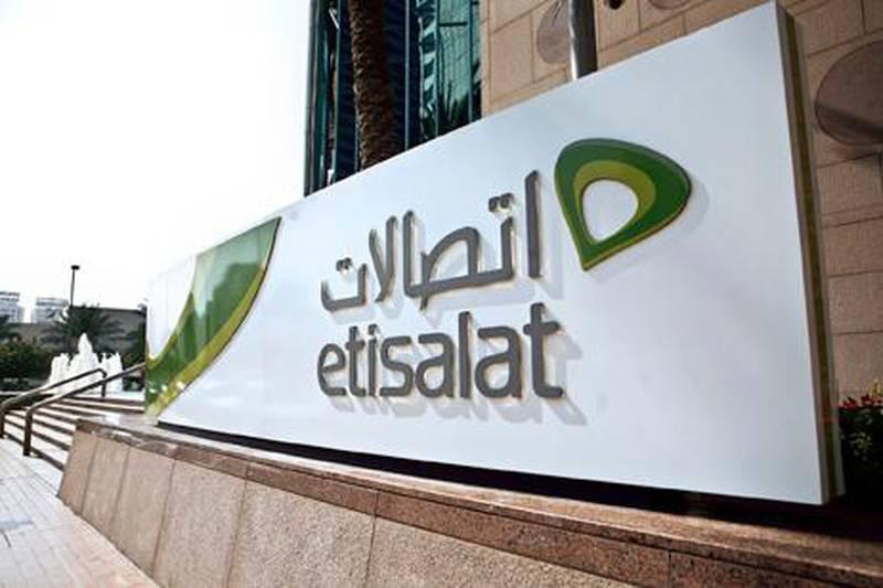 ABU DHABI, UAE. Februrary 15, 2010. Etisalat building downtown in Abu Dhabi. Alia Jeiroudi for The National.