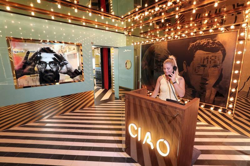 Dubai, United Arab Emirates - February 13, 2019: Massimo BotturaÕs restaurant Torno Subito in the W Hotel. Wednesday the 13th of February 2019 at The Palm, Dubai. Chris Whiteoak / The National