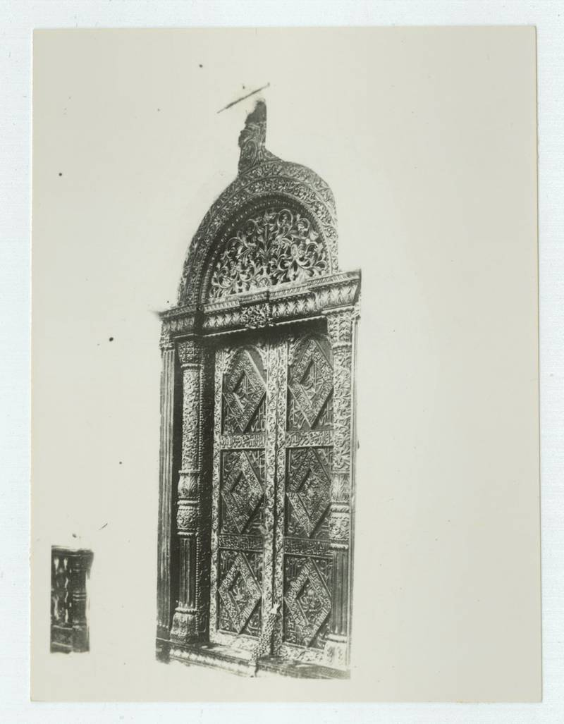 Zanzibar, Carved doorway at the House of Wonders, part of the former Sultan's Palace, Zanzibar.Original manuscript caption: Bait Rajab, house of H.H. Said Hamud, circa 1938. 2000/084/1/1/6/5/305. (Photo by: Bristol Archives/Universal Images Group via Getty Images)
