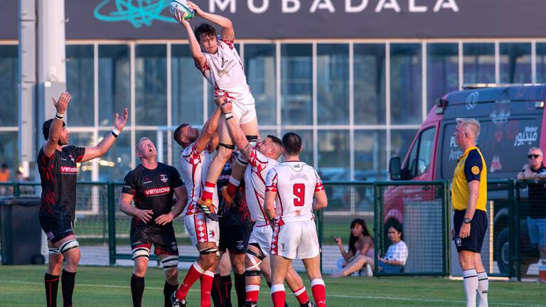 An image that illustrates this article Dubai Exiles maintain perfect start against Abu Dhabi Harlequins - in pictures