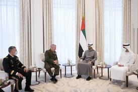 Sheikh Mohamed bin Zayed meets US Gen Kenneth McKenzie