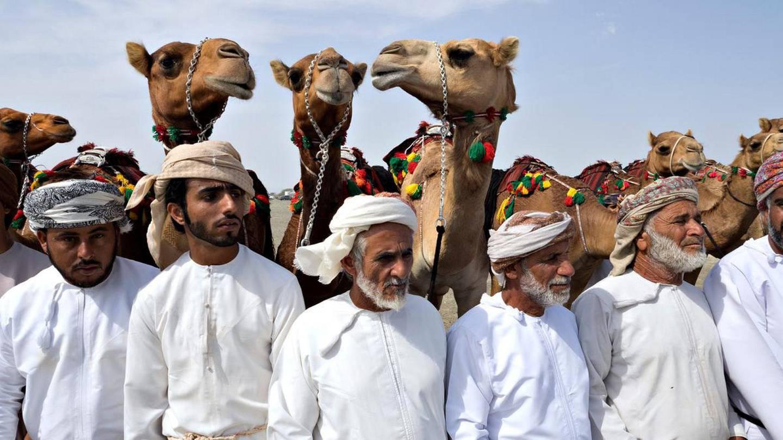 Camel breeders in Al-Mudhaibi. Saleh Al-Shaibany for The National