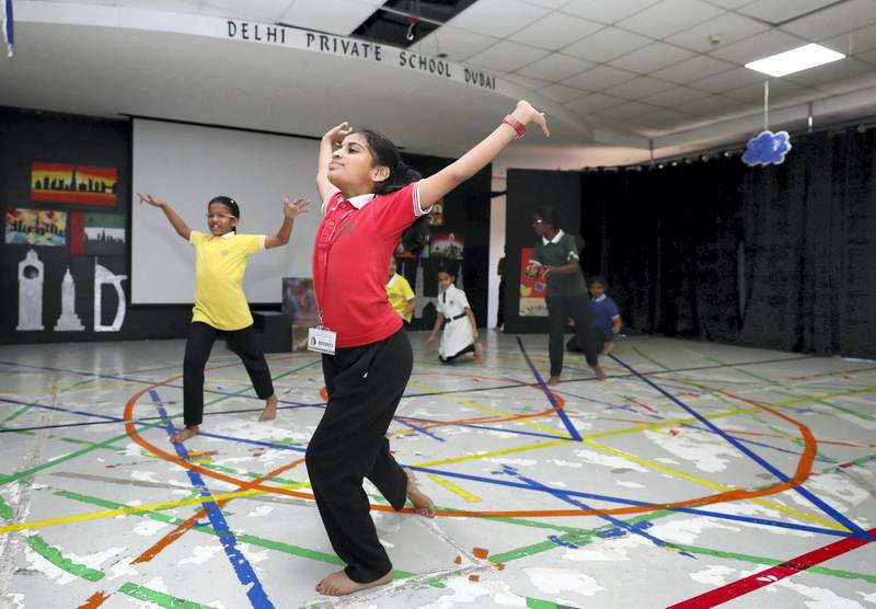Dubai, United Arab Emirates - February 14, 2019: General views of Delhi Private School. Rahhal programme is in its second phase and heads of schools are discussing the challenges it faces. Thursday the 14th of February 2019 at The Gardens, Jebel Ali, Dubai. Chris Whiteoak / The National