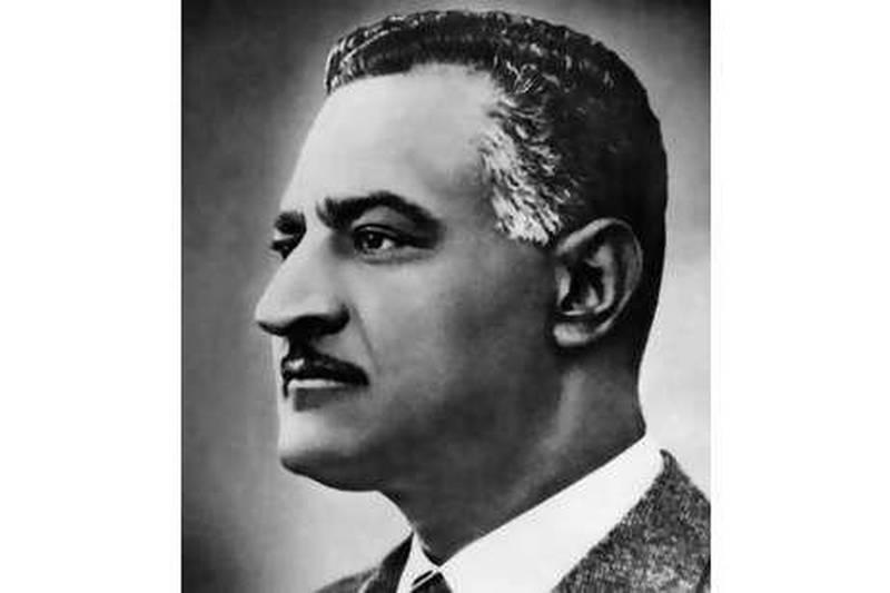 Portrait non datée du président égyptien Gamal Abdel-Nasser.