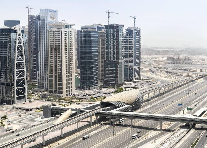 DUBAI, UNITED ARAB EMIRATES. 8 JULY 2020. Sheikh Zayed road.(Photo: Reem Mohammed/The National)Reporter:Section: