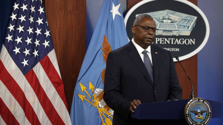 An image that illustrates this article Pentagon chief Lloyd Austin to visit the Gulf to discuss Afghanistan
