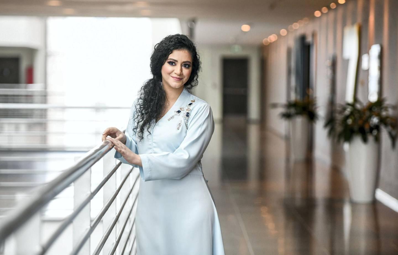 Abu Dhabi, United Arab Emirates - Fatima Al Taei, Emirati lead actress in Netflix series ÔJusticeÕ at The National, TwoFour 54. Khushnum Bhandari for The National