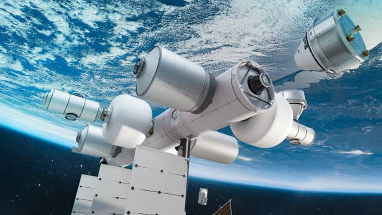 An image that illustrates this article Blue Origin unveils plans for private space station