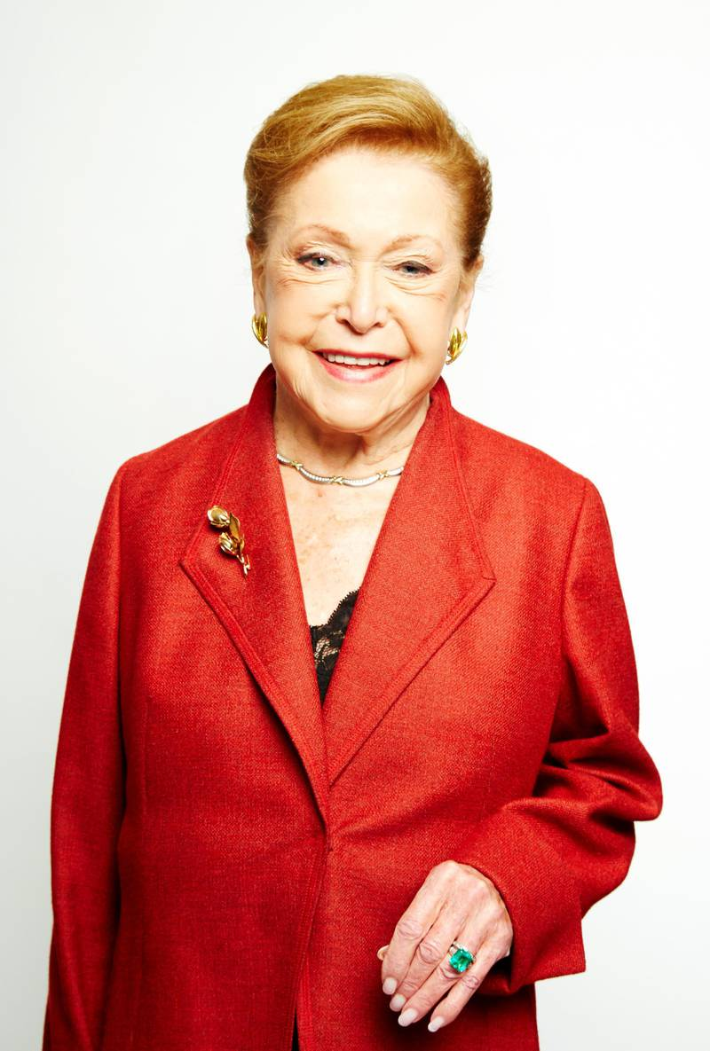 """Mandatory Credit: Photo by Dan Hallman/Invision/AP/Shutterstock (9238671a)Mary Higgins Clark poses for a portrait in promotion of her upcoming holiday mystery, """"Santa Cruise,"""" on in New YorkMary Higgins Clark Portraits, New York, USA - 25 Sep 2013"""