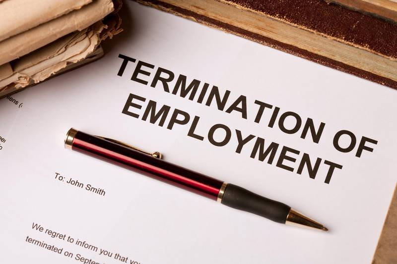 Termination of employment document