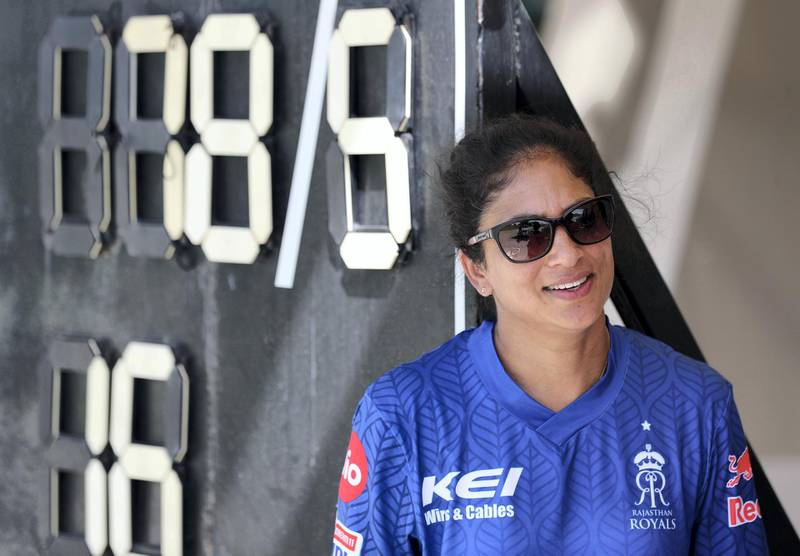 Dubai, United Arab Emirates - Reporter: Paul Radley. Sport. Cricket. Lisa Sthalekar. Girls trials for Rajasthan Royals cricket academy. Wednesday, October 14th, 2020. The Sevens, Dubai. Chris Whiteoak / The National