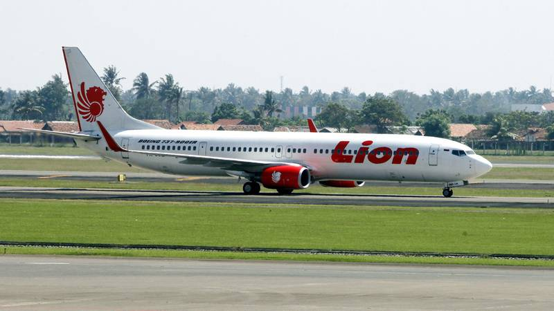 epa07212793 (FILE) - A picture made available on 18 March 2013 shows a Lion Air Boeing 737 passenger airplane on the tarmac at Soekarno Hatta international airport in Jakarta, Indonesia, 23 June 2012 (reissued 06 December 2018). Edward Sirait, CEO of Indonesian Lion Air on 06 December 2018 said the company may consider a cancellation of orders for the Boeing 737 Max plane after a Lion Air Boeing 737 Max airplane on 29 October 2018 crashed soon after take-off from Jakarta to Bali, killing all 189 people on board the plane.  EPA/MAST IRHAM
