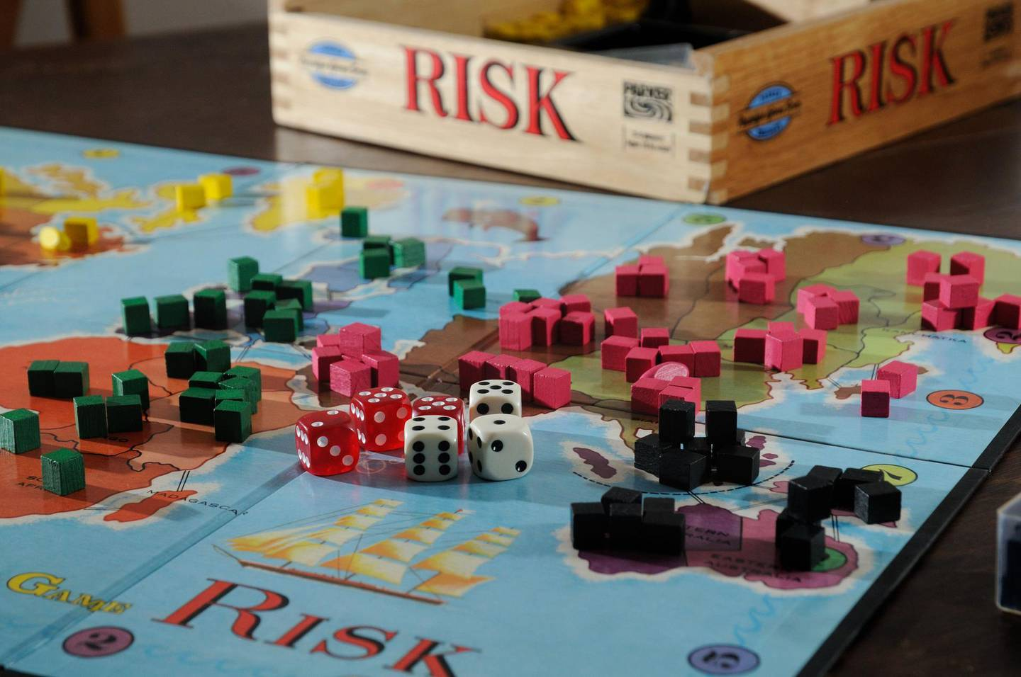 Mandatory Credit: Photo by Andy Drysdale/Shutterstock (1548089p) Risk board game of global domination, warfare and strategy Various - 2012