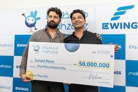 Driver earning Dh6,000 scoops Dh50 million in Mahzooz draw