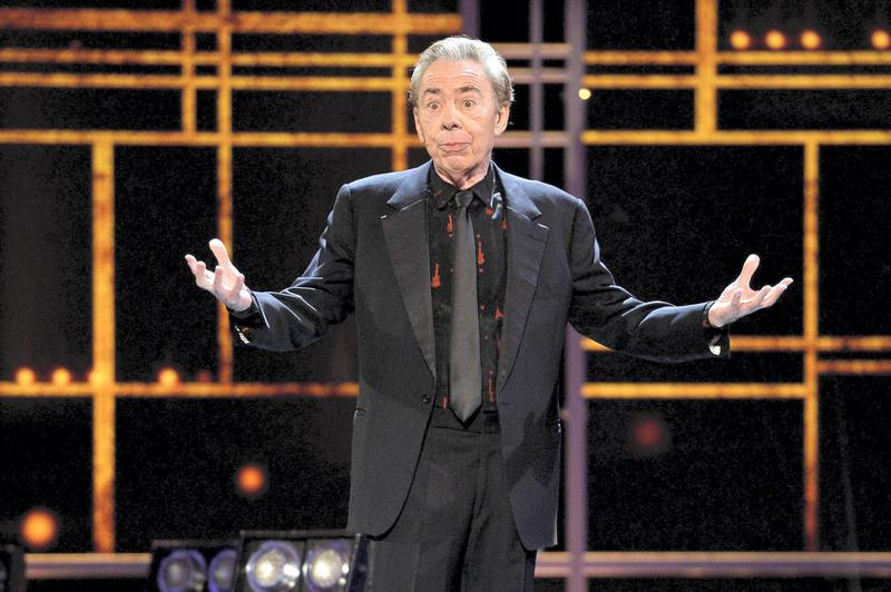 LONDON, ENGLAND - APRIL 09:  Lord Andrew Lloyd Webber on stage during The Olivier Awards 2017 at Royal Albert Hall on April 9, 2017 in London, England.  (Photo by Jeff Spicer/Getty Images)