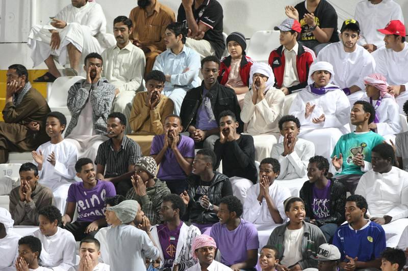 Al Ain, United Arab Emirates, Jan 26, 2013 -  Al Ain fans during a match against  Ajman at Tahnon bin Mohamed Stadium.  ( Jaime Puebla / The National Newspaper )