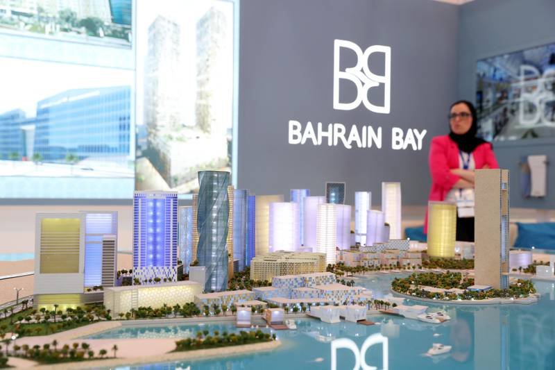 Dubai, United Arab Emirates - September 11th, 2017: Visitors at the Bahrain Bay project by Bahrain Bay developments at the 16th addition of Cityscape Global. Monday, September 11th, 2017 at World Trade centre, Dubai.