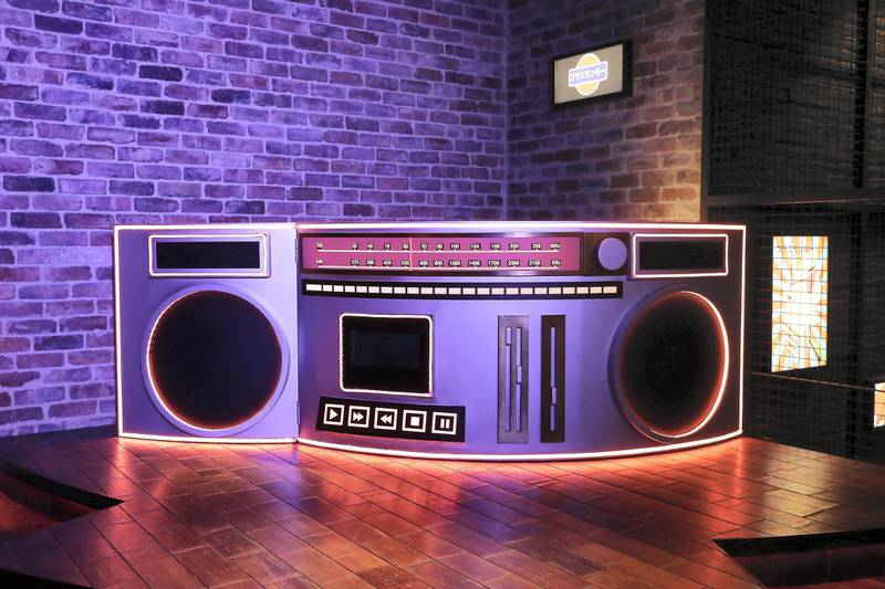 DUBAI, UNITED ARAB EMIRATES , September 27 – 2020 :- View of the DJ station at the Brass Monkey, new dining and entertainment destination on the Bluewaters Island in Dubai.  (Pawan Singh / The National) For Lifestyle/Online/Instagram. Story by Janice Rodrigues