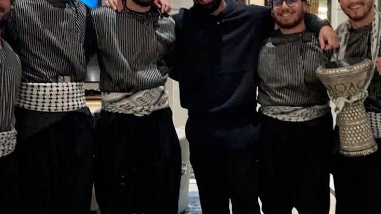An image that illustrates this article Dabke group surprises Drake on his birthday