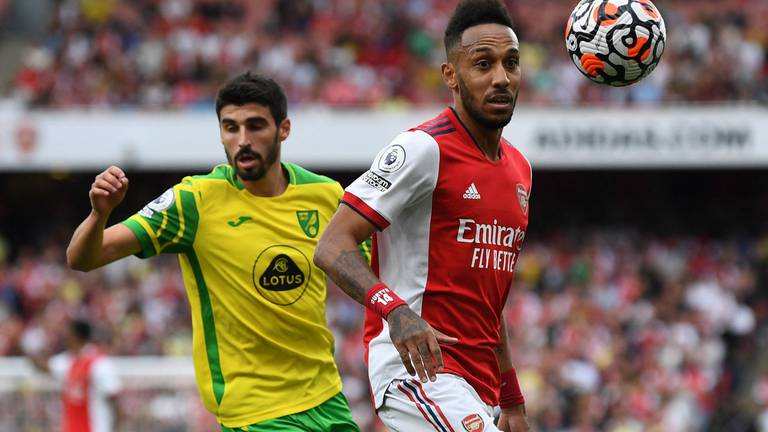 An image that illustrates this article Arsenal v Norwich ratings: Aubameyang 7, Pepe 8; Pukki 6