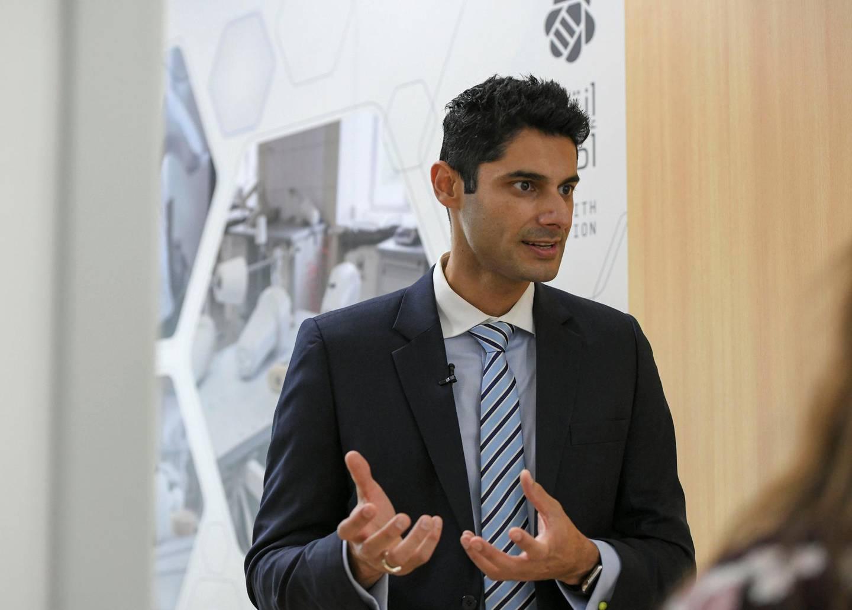 3D Printing Workshop-AD Vishnu Taimi, Vice President & Managing Director of HP supplying all the equipment to the newly opened 3D Printing Workshop in Al Bahyah on June 22, 2021. Khushnum Bhandari/ The National Reporter: Haneen Dajani News