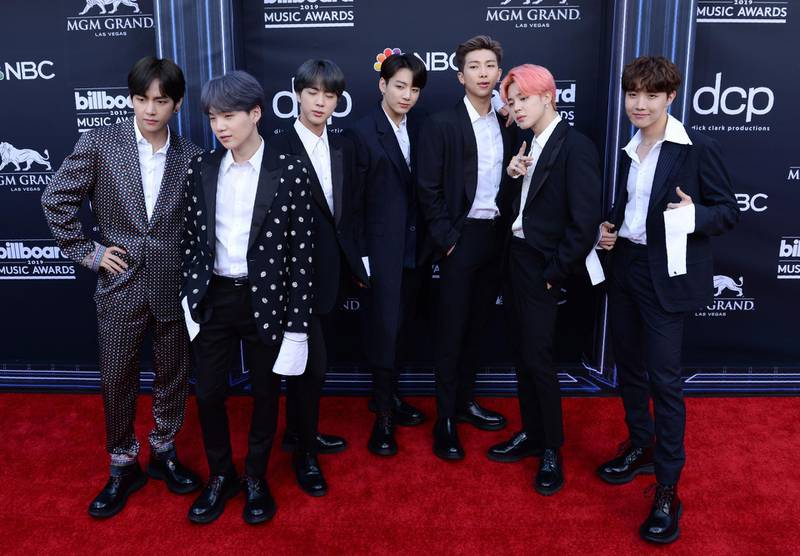 South Korean boy band BTS attends the 2019 Billboard Music Awards at the MGM Grand Garden Arena on May 1, 2019, in Las Vegas, Nevada. / AFP