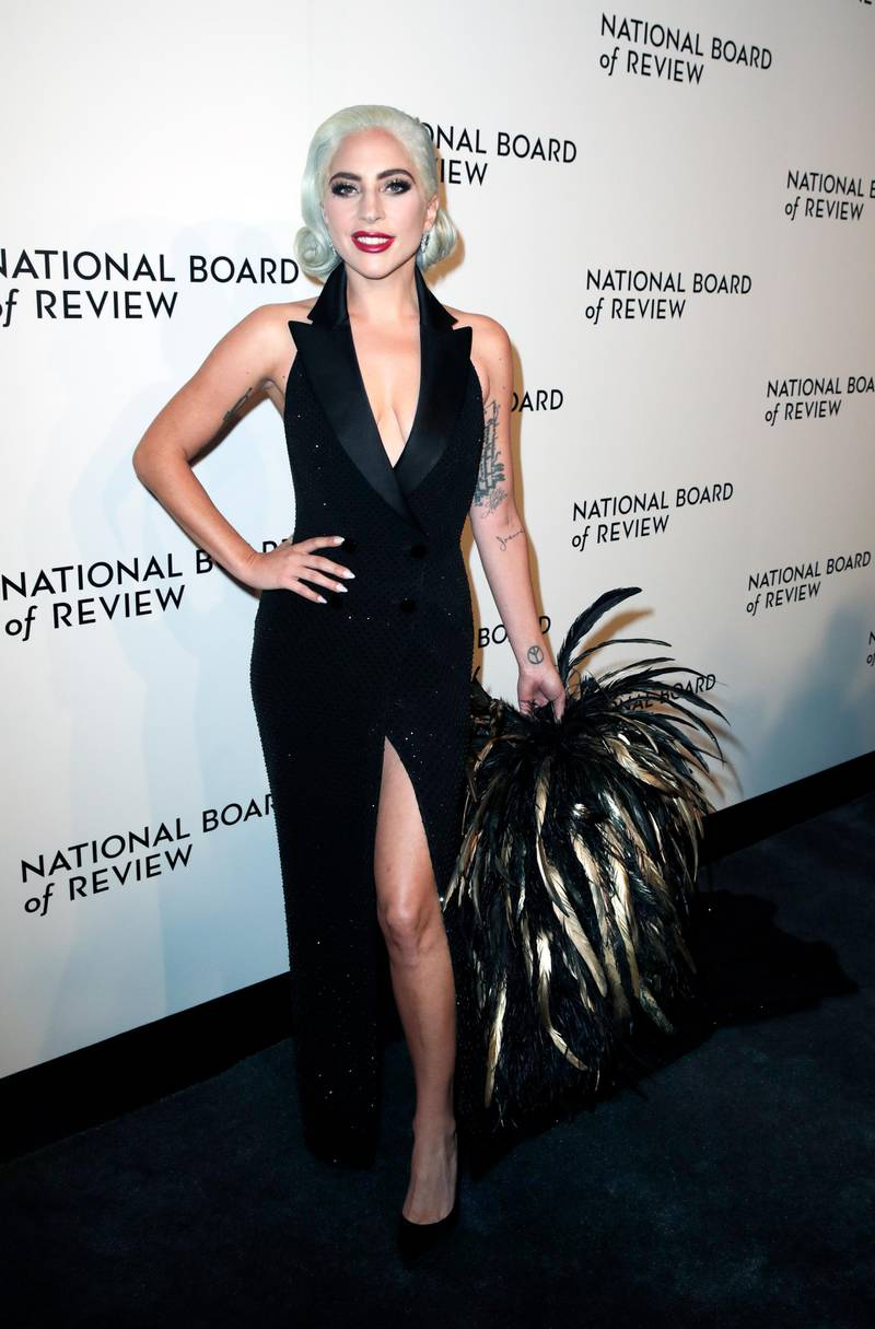 epa07270307 Lady Gaga arrives to the National Board Of Review at Cipriani 42nd street in New York, New York, USA, 08 January 2019.  EPA-EFE/JASON SZENES