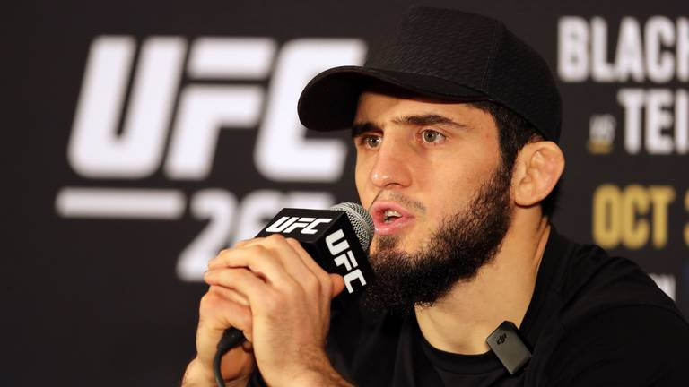 An image that illustrates this article UFC 267: Islam Makhachev plays down pressure as he bids to underline title talk