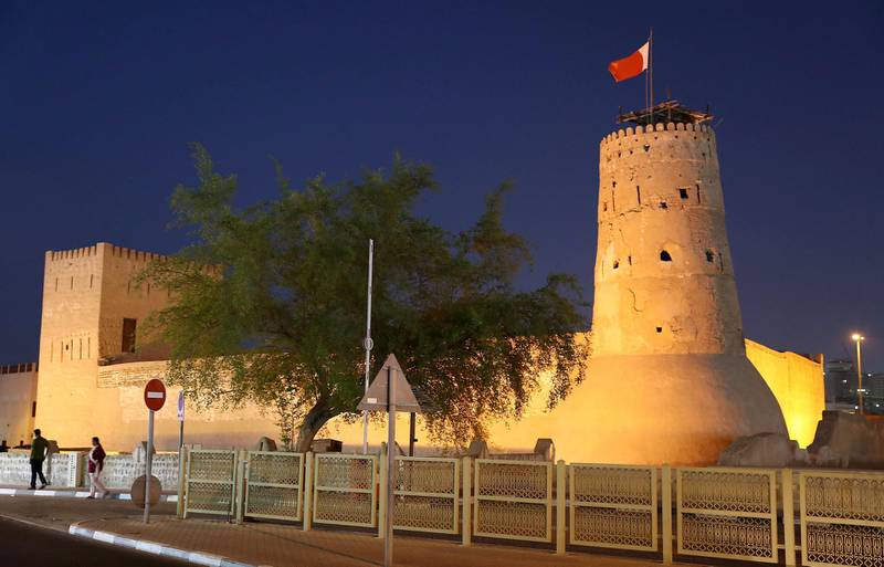 DUBAI , UNITED ARAB EMIRATES , JULY 25 – 2018 :- View of the Dubai Museum in Meena Bazaar area in Dubai. ( Pawan Singh / The National ) For News. Story by Ramola