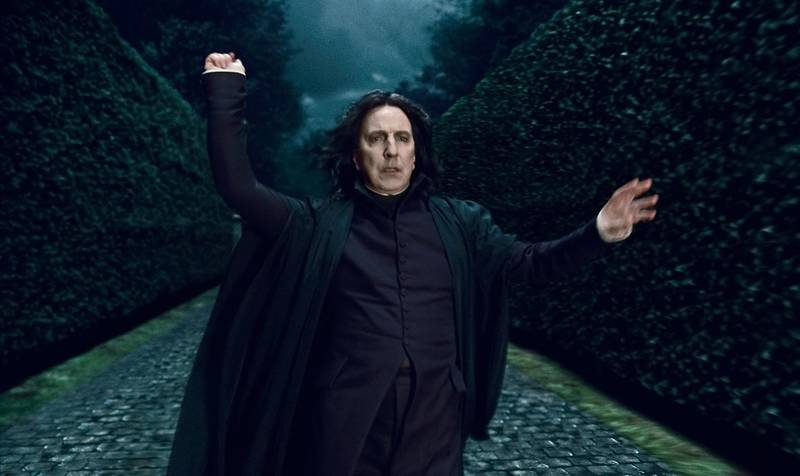 """A handout movie still of Alan Rickman in """"Harry Potter and the Deathly Hallows"""" (Courtesy: Warner Bros. Pictures) *** Local Caption ***  on29no-holly-snape.jpg"""