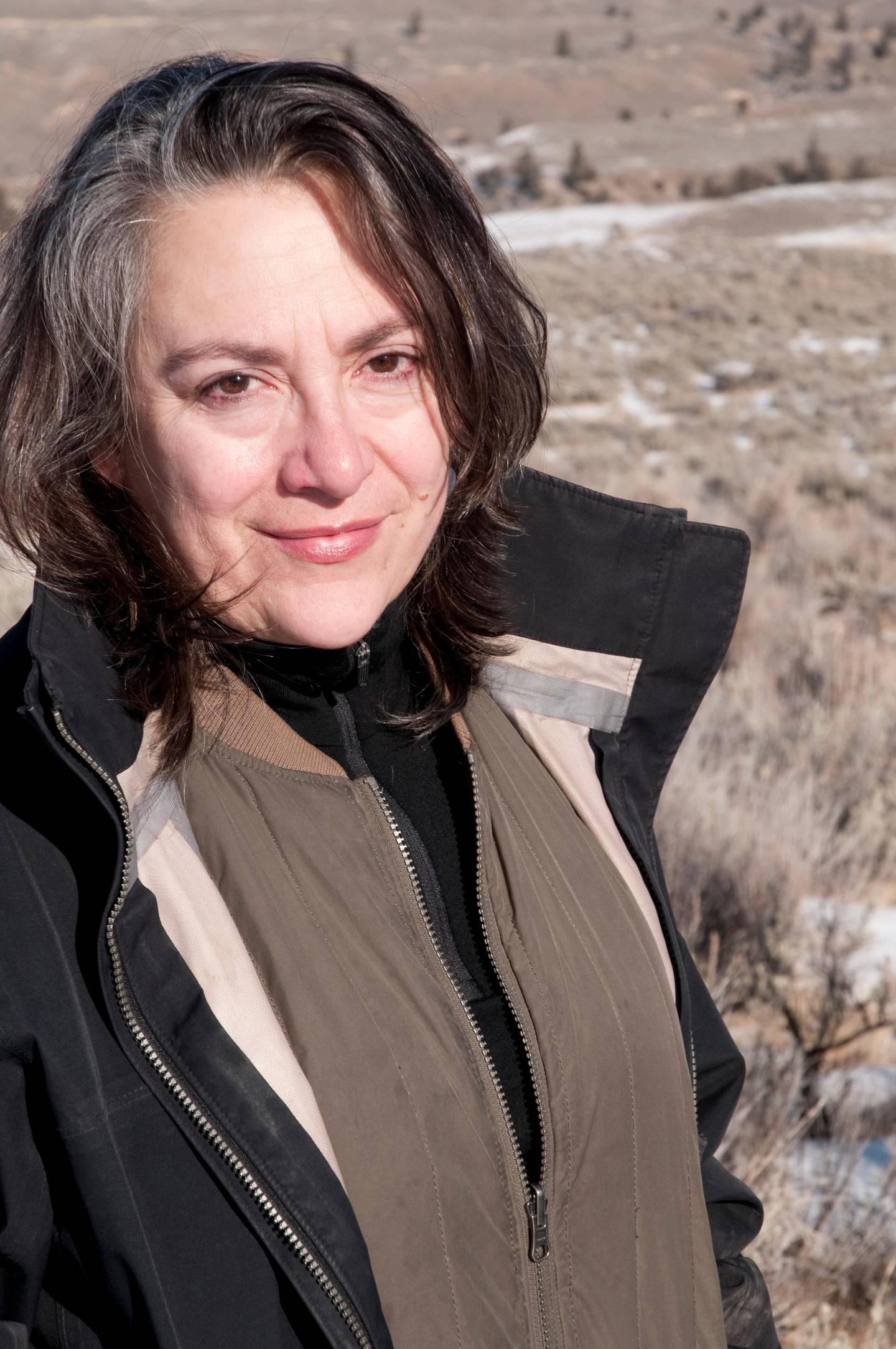 Carol Dysinger in Yellowstone National Park.