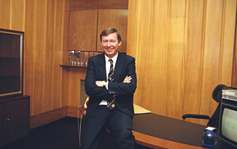MANCHESTER, UNITED KINGDOM - FEBRUARY 01: Manchester United manager Alex Ferguson pictured in an office at Old Trafford circa 1986 in Manchester, England. (Photo by Rusty Cheyne/Allsport/Getty Images)
