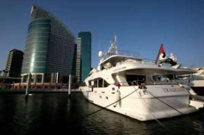 DUBAI - OCTOBER 15,2008 - 30 meter Yacht Benneti Tradition docked at Festival Marina in Dubai. ( Paulo Vecina/The National ) for Tahira Yaqoob story *** Local Caption ***  PV Tradition 21.JPGPV Tradition 21.JPG