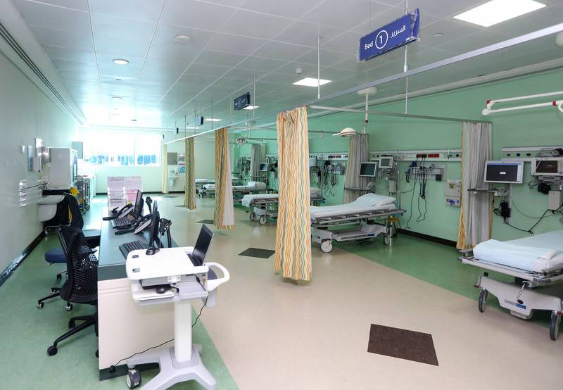 UMM AL QUWAIN, UAE. December 15, 2014 - Stock photograph of hospital beds at Sheikh Khalifa General Hospital in Umm al Quwain, December 15, 2014. (Photos by: Sarah Dea/The National, Story by: Rezan Oueti, News) *** Local Caption ***  SDEA151214-FNChospital_visit22.JPG