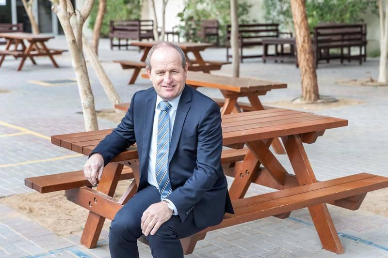 DUBAI, UNITED ARAB EMIRATES. 24 JANUARY 2019. Richard Drew, Headmaster at Jumeira Baccalaureate School. (Photo: Antonie Robertson/The National) Journalist: Anam Rizvi. Section: National.