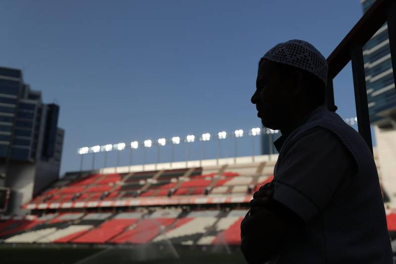 Abu Dhabi, United Arab Emirates - Reporter: John McAuley: The game between Sharjah and Al Ain in the PresidentÕs Cup semi-final is played behind closed doors as the UAE FA ruled that matches had to be played without fans as a precautionary measure because of the coronavirus. Tuesday, March 10th, 2020. Mohamed bin Zayed Stadium, Abu Dhabi. Chris Whiteoak / The National