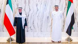 Sheikh Abdullah bin Zayed meets Kuwaiti foreign minister on country's 60th National Day