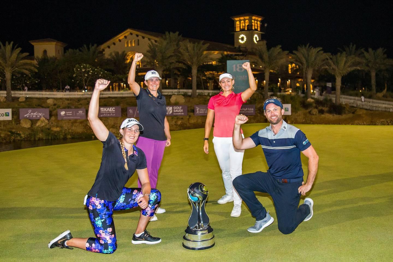 Team Pedersen, featuring Michele Thomson, Casandra Hall and amateur Matt Selby. Photo by Tristan Jones