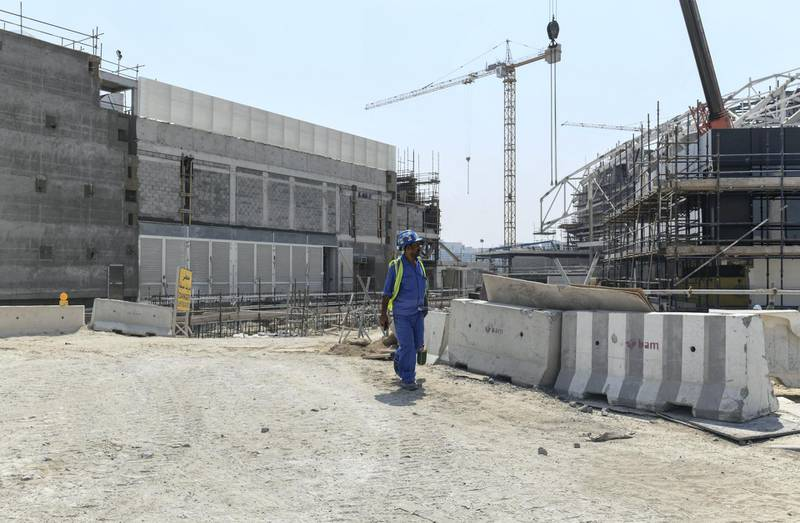Abu Dhabi, United Arab Emirates - Construction site along the Yas waterfront, Yas Marina. Khushnum Bhandari for The National