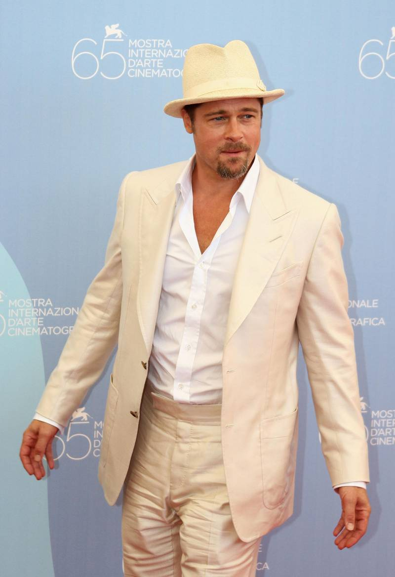 VENICE, ITALY - AUGUST 27:  Actor Brad Pitt during the 'Burn After Reading' Photocall, part of the 65th Venice Film Festival at Palazzo del Casino on August 27 2008 in Venice, Italy.  (Photo by Vittorio Zunino Celotto/Getty Images)