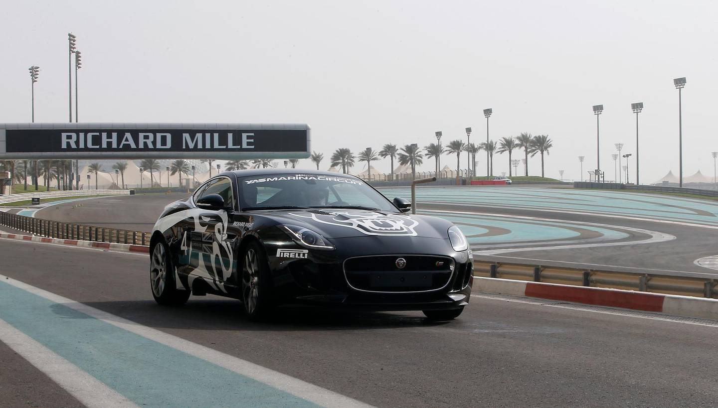 ABU DHABI - UNITED ARAB EMIRATES - 04OCT2016 - Adam Workman takes a drive of the new Jaguar experience at Yas Marina Circuit in Abu Dhabi. Ravindranath K / The National (to go with Adam Workman for Weekend) ID: 83262  *** Local Caption ***  RK0410-DRIVING09.jpg
