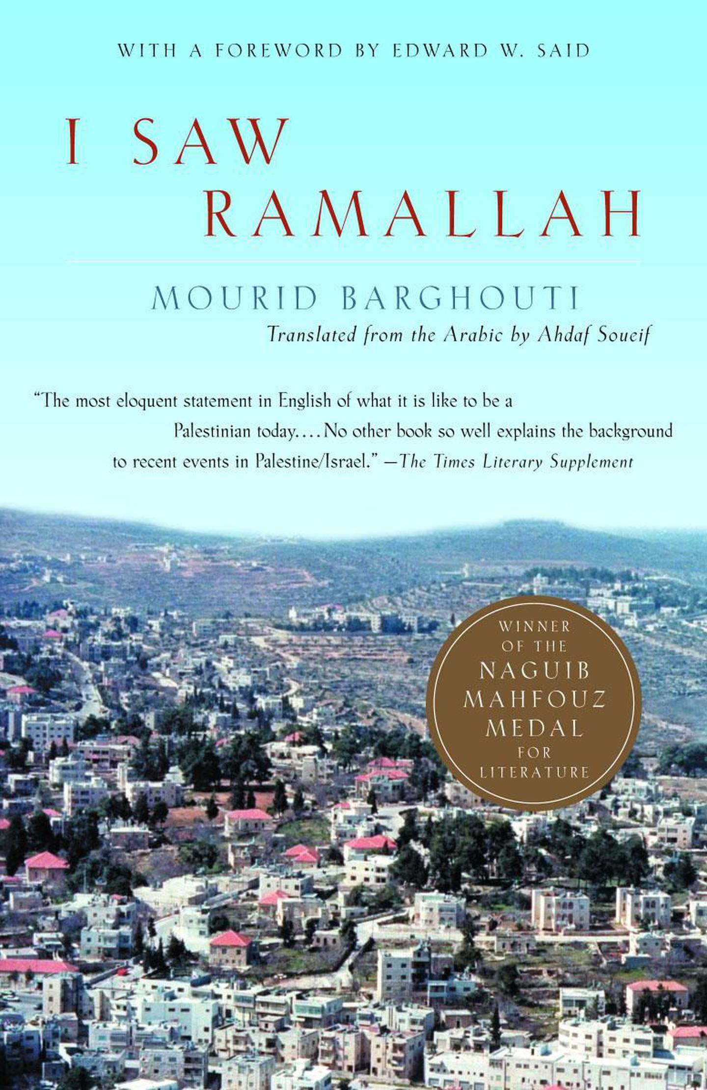 I Saw Ramallah by Mourid Barghouti (2000)